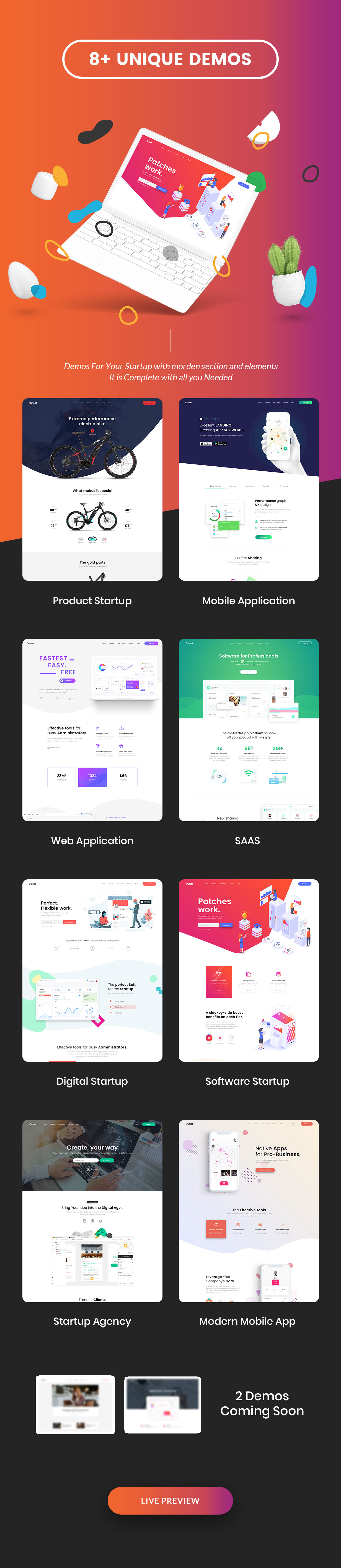 The Outset - MultiPurpose WordPress Theme for Saas & Startup - 2