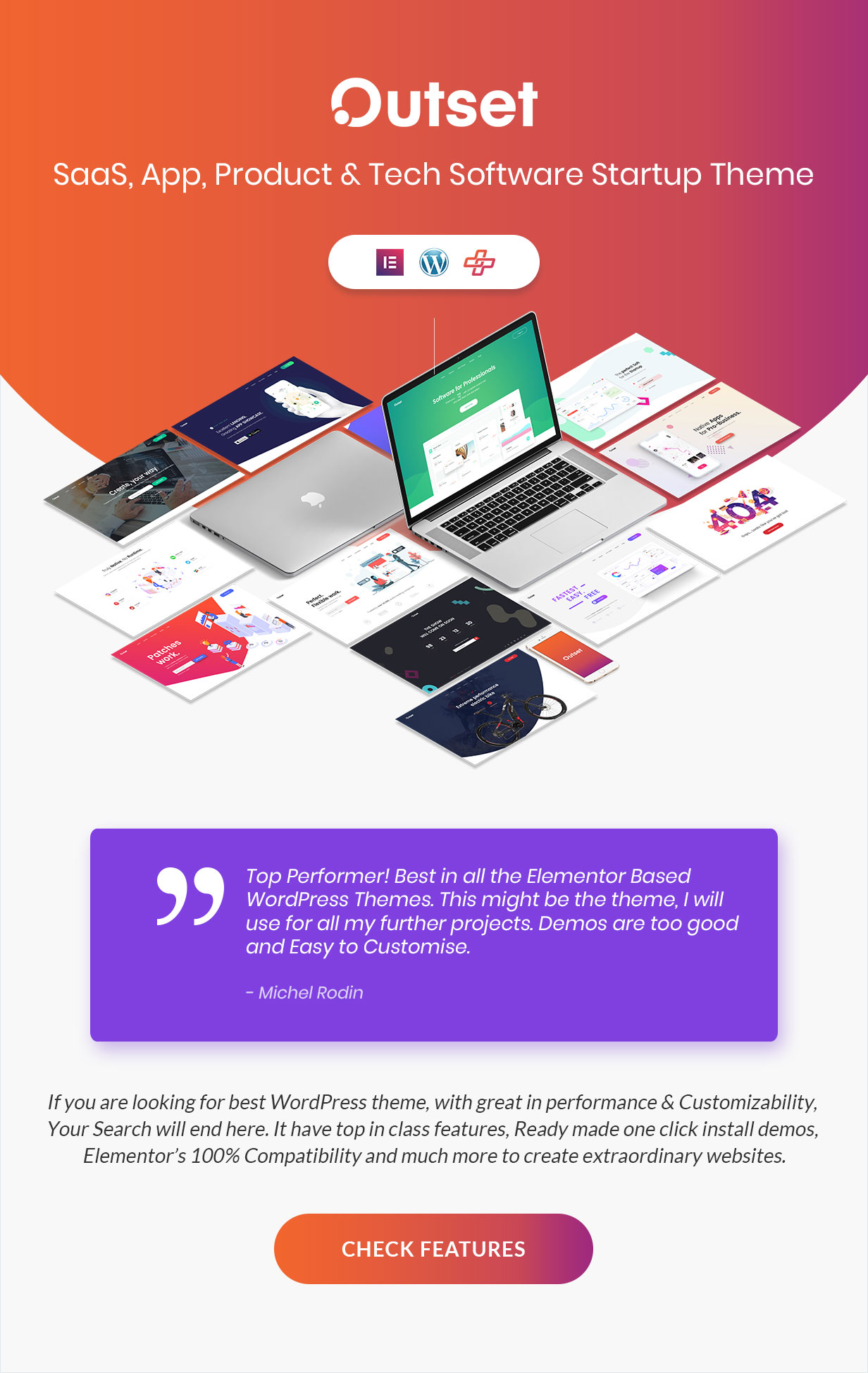 The Outset - SaaS, App, Product & Tech Software Startup Theme - 1